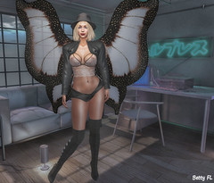 New styling 600 (bettyfl) Tags: betty bettyfl summer night plazza piata square chilly boots legs girl skin fashionista fashionlover fashion model modeling poser pose posing femme milf woman beauty sexy sensual elegant chic opensim hypergrid os hg