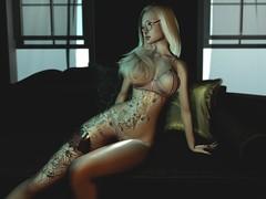 Blondie (Nel4481) Tags: doink tattoo glossy material darkness maitreya legacy belleza