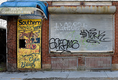 Mixed Messages (gregador) Tags: cleveland storefront decayed abandoned graffiti