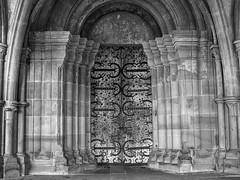 Maulbronn Monastery Main Entrance (Deepmike70) Tags: klostermaulbronn church monastery door ancient historical blackandwhite