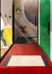 Entrance1 (tina_abe) Tags: architecture architectual arcihtection drawing desin design