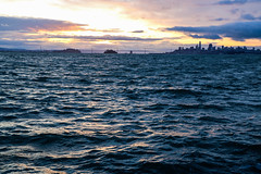 Basking in the morning light (AnotherSaru - Limited mode) Tags: sf sanfrancisco sunrise pacific ocean bay california ca bayarea cityscape clouds city thecitybythebay morning early light dawn choppywater waves