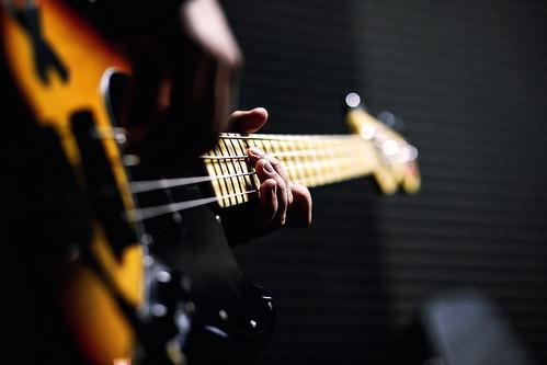Bass Guitar Chord Close Up Edited 2020