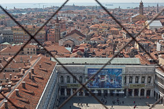 From the Campanile (Gary Kinsman) Tags: venice venezia italy italia canon5dmkii canoneos5dmarkii canon50mmf14 skyline lagoon water sea tower cityscape townscape view vista top stmarkscampanile belltower urban topography rooftops klimt stmarkssquare piazzasanmarco 2012 towers churches