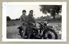 "Norton 16H (Vintage Cars & People) Tags: vintage classic black white ""blackwhite"" sw photo foto photography motorcycle motorbike motorrad krad antique coat jacket fur furtrimmed cap hat scarf goggles pipe pipesmoker vintagemotorcycles norton norton16h 1920s 20s twenties"
