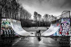 Wheelchair ramp (GWMcLaughlin) Tags: 24105f4l ef 6d canon queens ground recreation park glasgow graffiti halfpipe skatepark wheelchair