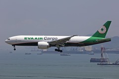 B-16786, Boeing 777F, EVA Airways, Hong Kong (ColinParker777) Tags: b16786 boeing 777 b777 77f 777f b77f b777f 777200f 777200lrf b777200f b777200lrf 777lrf b777lrf aircraft airplane aeroplane airliner cargo freighter freight delivery shipping landing fly flying finals approach hkg vhhh hong kong chek lap kok international airport china hksar sunny sea river delta sky skies barge crane ge90 general electric engines br eva airways airlines air canon 5dsr 200400 l lens zoom telephoto pro