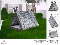 NEW! Thrifty Tent @ Kustom9 (Bhad Craven 'Bad Unicorn') Tags: tent tents camping decor 3d art artist gfx graphic design bhadcraven badunicorn unicorns unicorn bad bhad craven secondlife second life sl mesh meshed decorative decors home garden gardens homes houses builds buildings cool dope