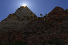 Pine Valley Peak in Zion's Kolob, Utah (swissuki) Tags: zion nature national park landscape largelandscape mountain sun sky utah ut