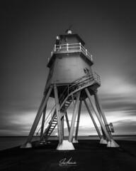 The Groyne, Herd Lighthouse, South Shields. (ia.alexander) Tags: southshields lighthouse bw herd southtyneside