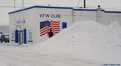 VFW Club (walkerross42) Tags: vfw veterans montpelier idaho snow winter flag soldier oldglory starsandstripes building clubhouse us89