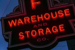 Warehouse and Storage (GmanViz) Tags: gmanviz color sonya6000 neon sign type shortnorth columbus fireproof letters