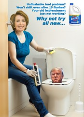 Imbleachment (Cui Bono) Tags: donald trump nancy pelosi trial senate impeachment america president bleach toilet clean states flush potus untied turn criminal crime crap shit shite crook corrupt unflushable dirty cleaner clorox bollox stain mess germ warfare