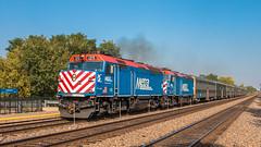 Metra #125 (NoVa Truck & Transport Photos) Tags: railroad train locomotive transportation rail metra 125 emd f40ph racetrack bnsf chicago sub passenger