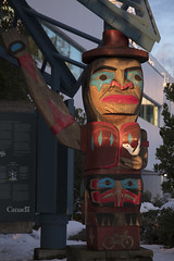 Squamish Nation (Sḵwx̱wú7mesh) welcoming figure on the Spirit Trail (ruthlesscrab) Tags: spirittrail northvancouver bc canada