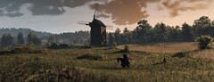 """""""The Way To The Mill"""" (HodgeDogs) Tags: flickr redengine tree grass sun mill explore inexplore cdprojectred larahjohnson games gaming horse people photography nvidia"""