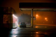 Sno's Seafood (oneselfsacrifice) Tags: fog foggy lafayette acadiana night downtown hazy wet reflections