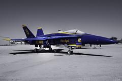 US Navy Blue Angels F-18 Hornet in Pima Air & Space Museum - Tuscon - Arizona - USA (R.Smrekar) Tags: usa 2019 arizona museum airplane nikon aircraft blackwhitecolor z7 smrekar 000500