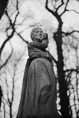 Mournful lady (Bohdan Bobrowski) Tags: poznań cmentarzzasłużonychwielkopolan świętywojciech tombstone zenite helios helios442 kmz moskva80 meriteds for greater poland cemetery