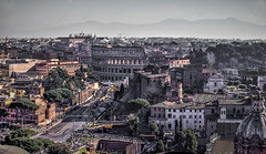 Colliseum , Rome (alexi278) Tags: rome people streets buildings cityscape desaturated