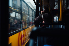 Homeward Bound (ewitsoe) Tags: everydaymoments lifestyle nikon street warszawa winter cinematic erikwitsoe poland warsaw tram window man relaxed seat reflection afternoon commute afterwork citylife transit bokeh blur trampassing woman people pedestrians
