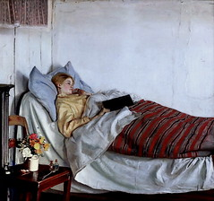 IMG_3514 Michael Ancher 1849-1927 Danish La fille malade  The sick girl 1882 Copenhagen Statens Museum for Kunst (jean louis mazieres) Tags: peintres peintures painting musée museum museo denmark copenhague statensmuseumforkunst