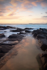 Sunrise On Cellito || NSW || AUSTRALIA (rhyspope) Tags: australia aussie nsw newsouthwales rhys pope rhyspope cellito beach forster greatlakes sunrise rocks sand water morning travel sky clouds color colour