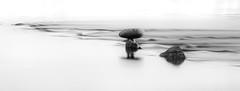 Wading In The Milky Water (Ken Mickel) Tags: abstract arizona artistic avondale avondalearizona baseandmeridianstatewildlifearea fineart gilariver kenmickelphotography landscape longexposure longexposurephotography river rock tresrios blackandwhite nature photography water laveen unitedstatesofamerica