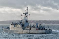 IMG_3508aa_DxO    *** Best viewed full screen *** (alanbryherhowell) Tags: portsmouth solent navy french warship frigate corvette f793 blaison commandant