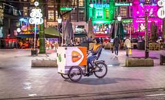 Amsterdam Postal Service (Emil de Jong - Kijklens) Tags: post nl kijklens leidseplein amsterdam colors kleur kleuren terras café postbezorging bakfiets explore