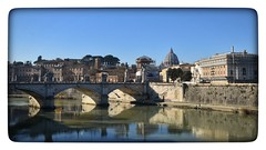 Rome (jmollien) Tags: rome italie italia tibre pont bridge fleuve river reflets reflecting réflections beautiful