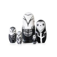 DSC08205 (fortmoon) Tags: monochrone shades art woodendolls owls black white wooden fortmoon ecofriendly etsy artdoll customorder painted