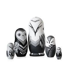 DSC08196 (fortmoon) Tags: monochrone shades art woodendolls owls black white wooden fortmoon ecofriendly etsy artdoll customorder painted