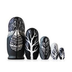 DSC08186 (fortmoon) Tags: monochrone shades art woodendolls owls black white wooden fortmoon ecofriendly etsy artdoll customorder painted