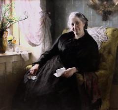 IMG_3506 Bertha Wegmann 1847-1926 Danish Portrait of Cecilie Trier 1885 Copenhague Statens Museum for Kunst (jean louis mazieres) Tags: peintres peintures painting musée museum museo denmark copenhague statensmuseumforkunst