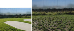 Landscape fragment (michelle@c) Tags: architecture reflection grass tarmac museum facade garden landscape earth mining area manmade former aluminium bulding rehabilitation contemporan architect sanaa 2012 2019 landscapedesigner catherinemosbach lelouvrelens ©michellecourteau nbr9 diptych pite puzzle