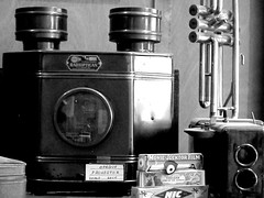 Old School ...... (Mr. Happy Face - Peace :)) Tags: vintage research art movie film radiopican projector flickrfriends collection history camera art2020 black white