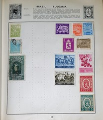 THE UNIVERSAL STAMP ALBUM (foundin_a_attic) Tags: universal stamp album worldwide world