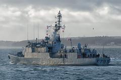 IMG_3509aa_DxO    *** Best viewed full screen *** (alanbryherhowell) Tags: portsmouth solent navy french warship frigate corvette f793 blaison commandant