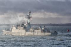 IMG_3505aa_DxO    *** Best viewed full screen *** (alanbryherhowell) Tags: portsmouth solent navy french warship frigate corvette f793 blaison commandant