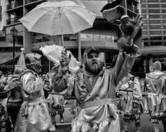 New Year's Day Mummers Parade, 2020 (Alan Barr) Tags: philadelphia mummer mummersparade mummers newyear parade street sp streetphotography streetphoto blackandwhite bw blackwhite mono monochrome candid city people olympus omd em1ii