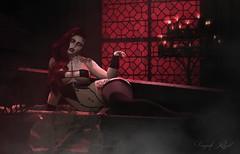 Love You To Death (Vanjah Rajal) Tags: sl secondlife goth gothic dark doux vampire bento mesh demon succubus maitreya