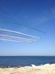 IMG_5600 (quasilisa) Tags: italia flag aero celebration sea adriaticsea may iphone