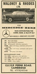 1965 Maloney & Rhodes advert (Nivek.Old.Gold) Tags: 1965 maloneyrhodes mercedes magazine advert autocar