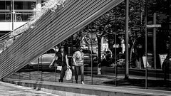 Reflected (Chris (a.k.a. MoiVous)) Tags: streetphotography adelaidecbd streetlife commuters