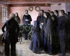 IMG_3517 Anna Ancher 1859-1935 Danish  Un enterrement A Funeral 1891 Copenhague Statens Museum for Kunst (jean louis mazieres) Tags: peintres peintures painting musée museum museo denmark copenhague statensmuseumforkunst