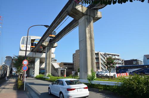 Tama Monorail Train Leaving Koshu-kaido Station 3