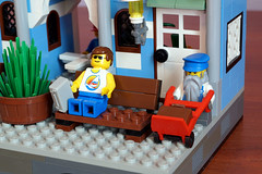 Dwarf Train Station Passenger and Worker (eldarseer) Tags: legodwarfstation lego train station dwarf