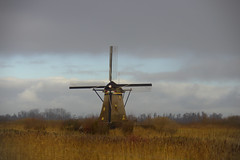 "Windmill ""Overwaard no.2"" (Kinderdijk, NL) (JWH Photography) Tags: kinderdijk windmill molen landscape sky clouds mill"