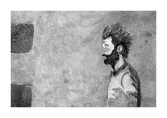Anonymé (Oeil de chat) Tags: nb bw monochrome film pellicule argentique 35mm voigtlander bessa r2a leitz summicron kodak trix xtol graff graffiti streetart collage anonyme rennes mur